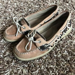 Sperry Top Slider Cheetah Print Shoes